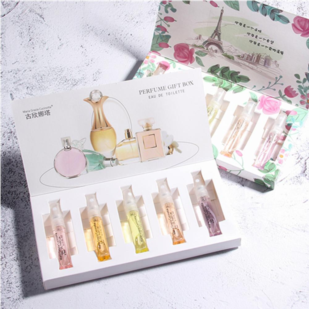 5pcs Original Women Perfume Set Long-Lasting Mini Ladies Parfum Spay Strong Elegant Refreshing Flower Female Aromatic Water
