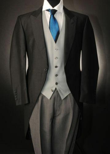 New Black Tail Long Coat Mens Suits For Wedding Slim Fit  Custom Peaky Blinders Wedding Dress Three Pieces(Jacket+Pants+Vest)