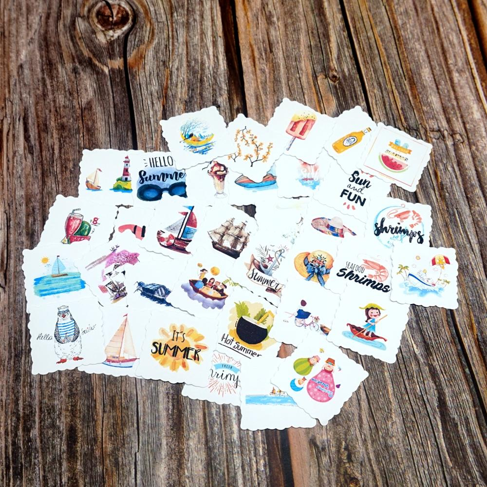 35pcs Cute World Travel Waterproof Stickers Diary Scrapbooking Album Decoration Stationery Stickers Kids Students Gift Stickers