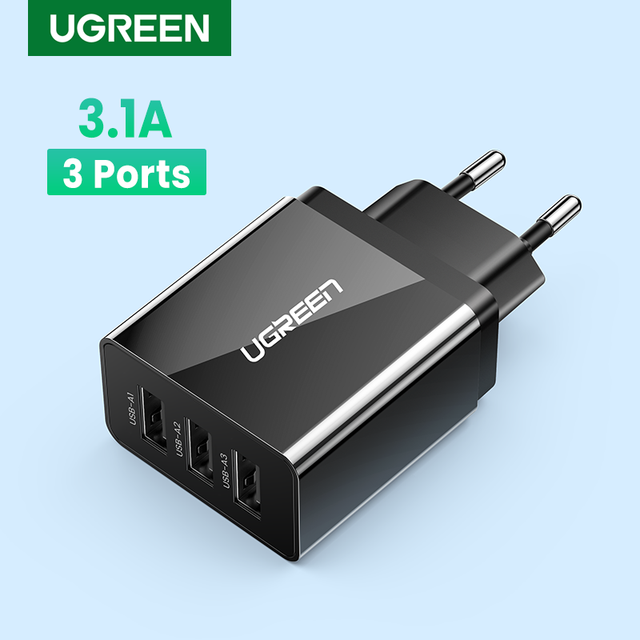 Ugreen USB Charger for iPhone Xs X 8 7 Fast Phone Charger for Samsung Xiaomi Huawei Wall Charger EU Adapter Mobile Phone Charger 1