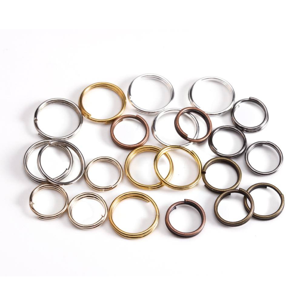 200pcs/lot <font><b>4</b></font> <font><b>6</b></font> 8 10 <font><b>12</b></font> mm Open Jump Rings Double Loops Gold Silver Color Split Rings Connectors For Jewelry Making Supplies DiY image