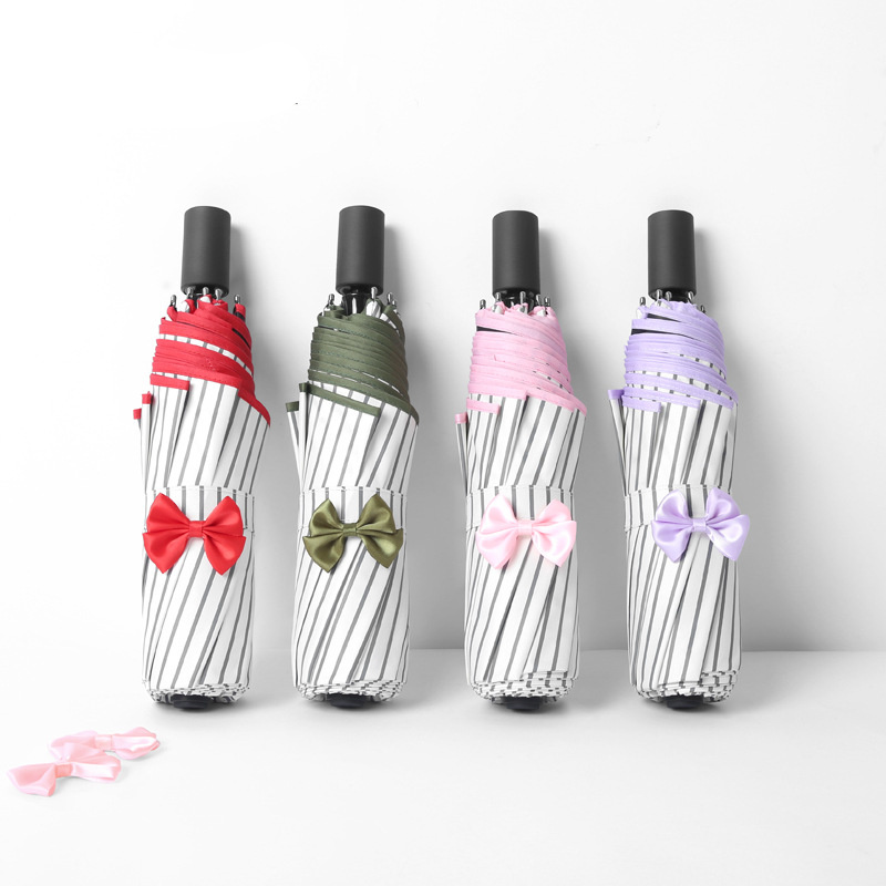 Sunny Rainy Umbrella Folding Umbrellas Sunscreen Creative Anti-UV protection Women Bow-knot Elegant Exquisite