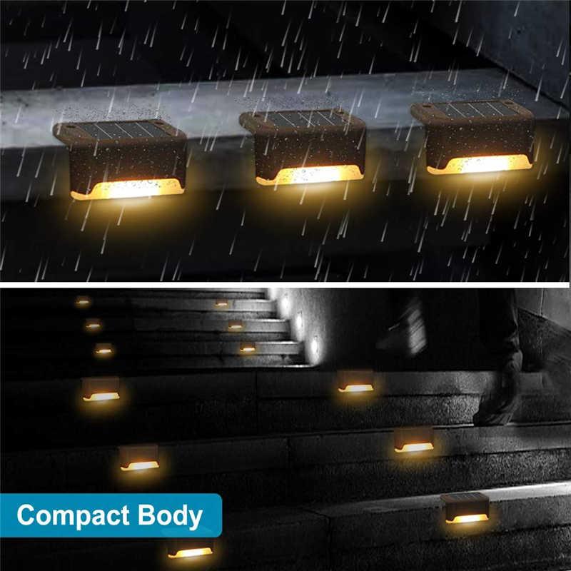 16/8PCS Solar Deck Lichter Solar Schritt Lichter Im Freien Wasserdichte Led Solar Zaun Lampe für Terrasse Treppen Garten pathway Schritt Hof