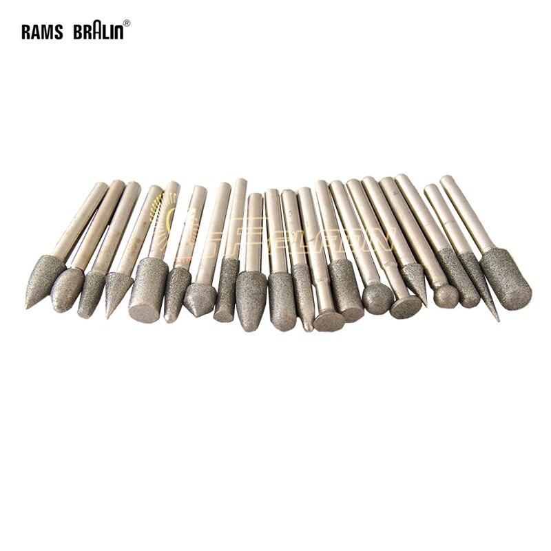 Diamond Grinding Point  20 Pieces/set Diamond Abrasive Burrs For Polishing Stone Ceramic Glass