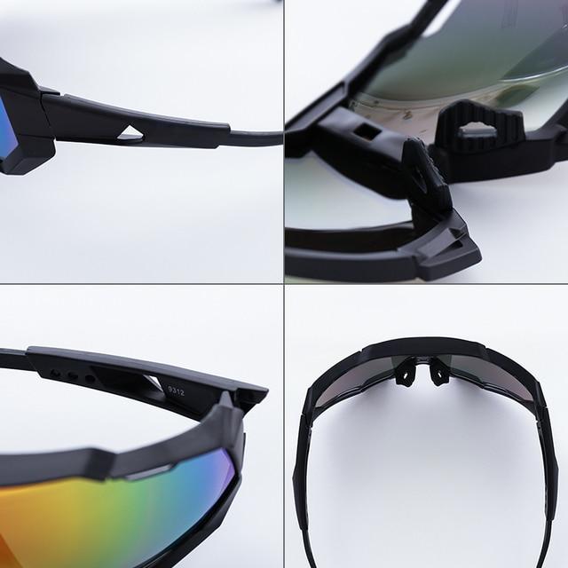 Uv400 ao ar livre anti-vento esporte óculos de sol eyewear colorido esportes ciclismo óculos de sol óculos de bicicleta 4