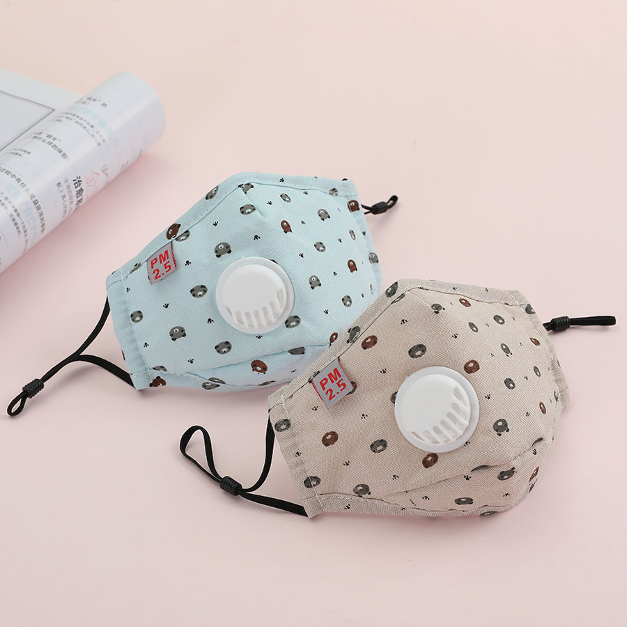 Reusable Washable Dustproof Mouth Shield For Kids - Protection From Dust, Cartoon Children Mask,with PM 2.5 Filter Cotton Masks