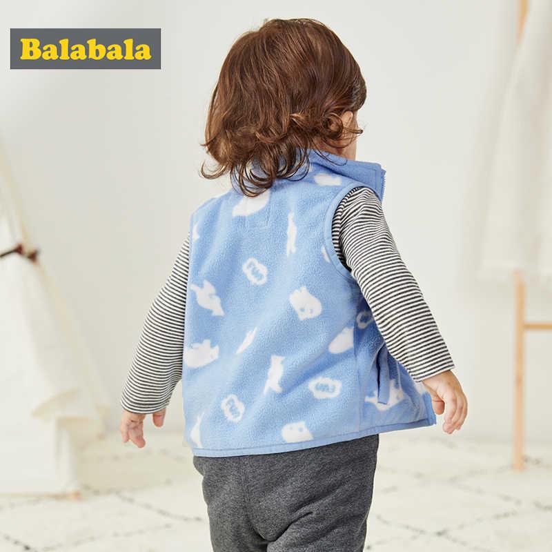 Balabala kinder kleidung weste mädchen jungen 2019 neue herbst baby mantel fleece weste frühling cartoon weich und komfort