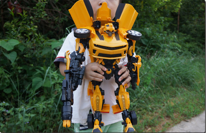 Dexin 6699 Transformation Toy Bumblebee Light Included Light Music Boy Toy