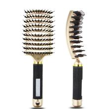 Anti Klit szczotka do włosów kobiety kobiece włosy grzebień masujący skórę głowy włosia i nylonu szczotka do włosów mokre kręcone szczotka do rozplątywania włosów do salonu tanie tanio GEONYIEEK About 25cm *7 5cm Other A1720