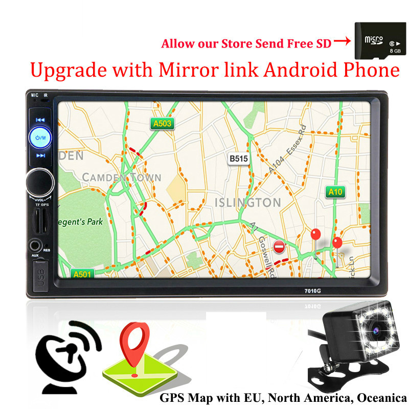 2 Din GPS Navigation <font><b>Autoradio</b></font> Car Radio Multimedia Player Camera Bluetooth Mirrorlink Android Steering-wheel Stereo Audio image