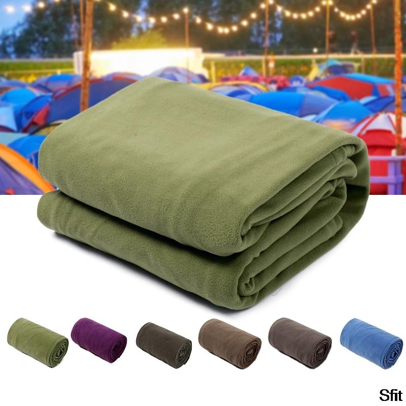 New Portable Ultra-light Polar Fleece Sleeping Bag Outdoor Camping Tent Bed Travel Warm Sleeping Bag Liner