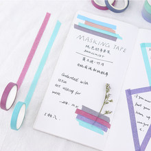 5 unids/lote Simple cinta de Washi conjunto Color sólido enmascarar decorativa cinta Scrapbooking DIY estudiante papelería ESCUELA DE(China)