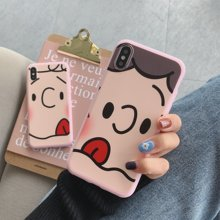America INS Pink Cartoon Anime Sn dog Matte Candy TPU Mobile Phone Case Cover For iPhone11PRO MAX 6 7 8plus XS MAX XR Capa Funda(China)