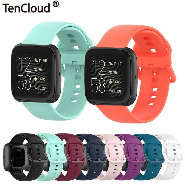 solid color Wristband for Fitbit versa 2 /versa lite smart watch accessories band adjustable strap soft waterproof bracelet belt