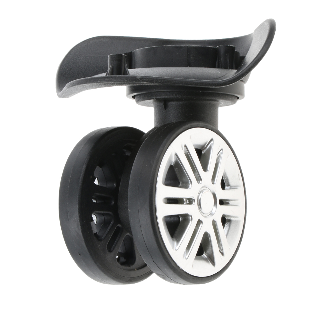 1 Pair A09 Swivel Dual Roller Wheels Suitcase Luggage Replacement Casters For Travelling Bag