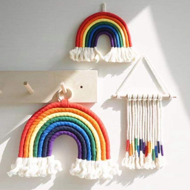 Simple Nordic Kids Room Rainbow Hanging Decoration Rainbow Wall Hanging Decor Scandinavian Kids Room Decoration Accessories