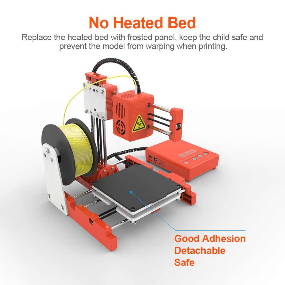 EasyThreed מיני שולחן העבודה ילדים 3D מדפסת 100*100*100mm הדפסת גודל גבוהה דיוק אילם הדפסה עם TF כרטיס PLA נימה