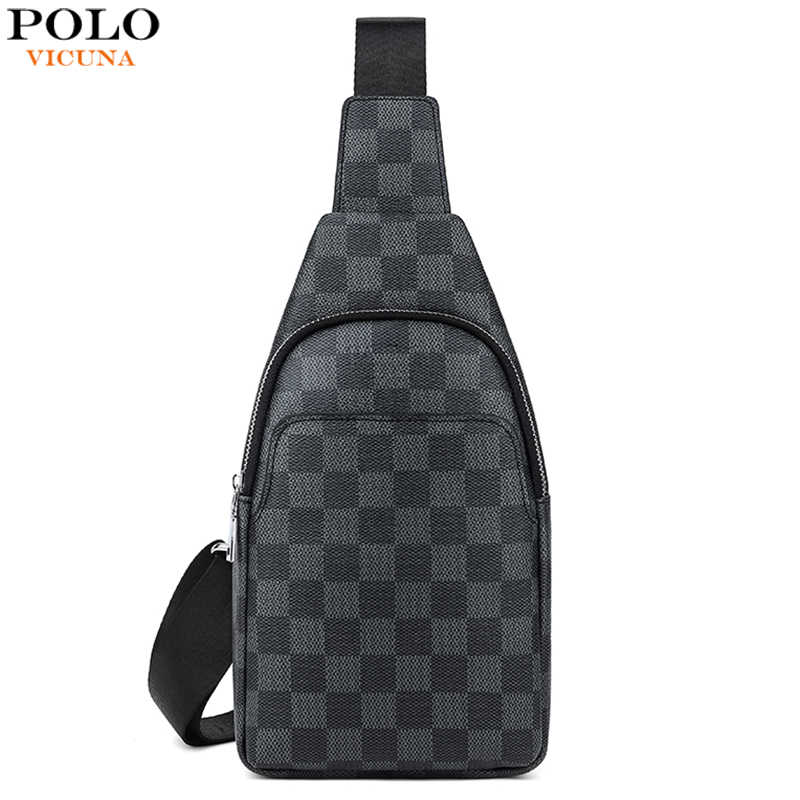 Vicuna Polo Beroemde Merk Mannen Cross Body Bag Plaid Mannen Reizen Borst Tassen Mode Sling Messenger Schoudertassen