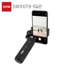 ZHIYUN Official SMOOTH Q2 Phone Gimbal 3-Axis Pocket Size Handheld Stabilizer for iPhone/Samsung/Huawei Smartphones VS Osmo zhiyun official smooth 4 3 axis handheld smartphone gimbal stabilizer vs smooth q model for iphone x 8plus 8 7 6s samsung s9s8s7