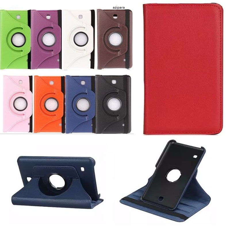 New Coque For Samsung Galaxy Tab 4 7.0 SM-T230 T231 T235 Case 360 Rotation Smart PU Case For Samsung T230 T231 Cover 360 Stand