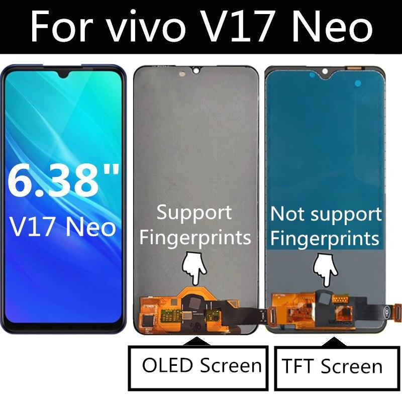 ЖК-дисплей 6,38 дюйма для VIVO V17 Neo Europe, сенсорный экран в сборе, сменный аксессуар для VIVO V17, версия для России, ЖК-дисплей