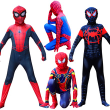 Halloween Children's costume spiderman cosplay verses spider Miles Morales Cosplay Costume Zentai Spiderman pattern Bodysuits