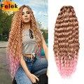 Темные волнистые твист крючком волосы натуральные Синтетические афро локоны крючком косички Омбре плетение волос удлинители для женщин ни...