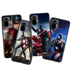 Image 2 - Captain America Marvel Voor Xiaomi Redmi Note 10 10S 9 9T 9S 9Pro Max 8T 8Pro 8 7 6 5 Pro 5A 4X 4 Zachte Zwarte Telefoon Case
