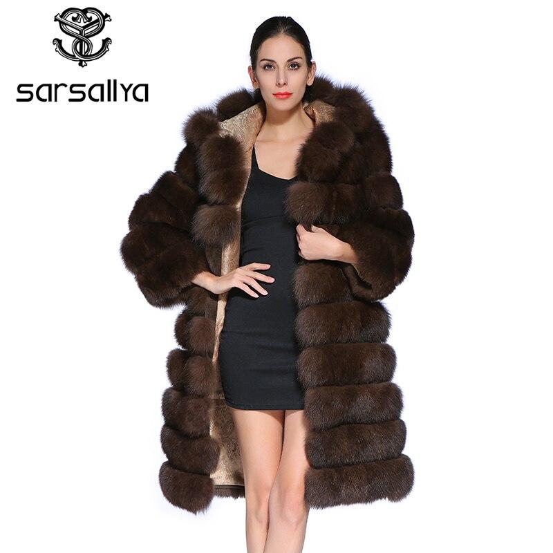 Manteau de fourrure à capuche femme réel manteau de fourrure de renard Long hiver chaud veste femmes marque de luxe vêtements manches détachables gilet grande taille
