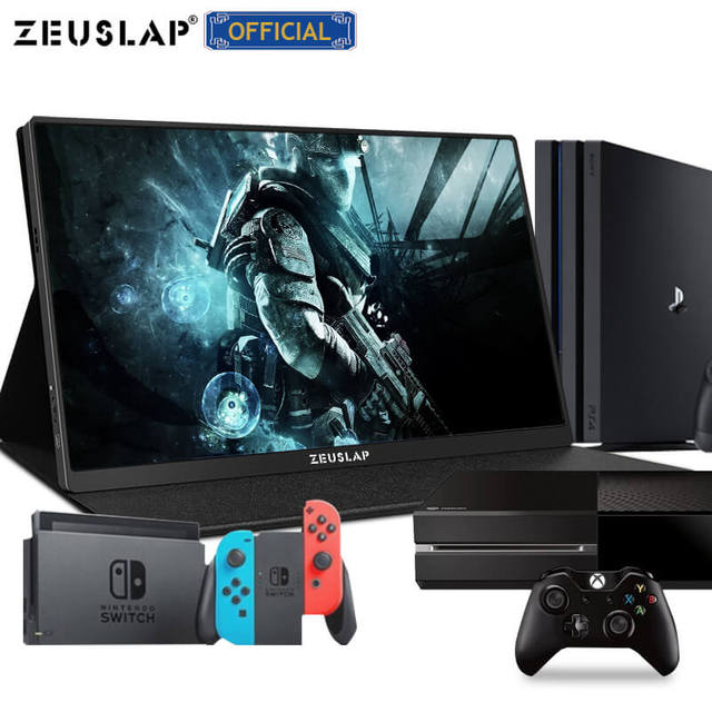 ZEUSLAP 15.6inch USB C HDMI 1920*1080P or 4K PD HDR Monitor Metal Ultrathin Portable Screen PS4 Switch Xbox Gaming Monitor