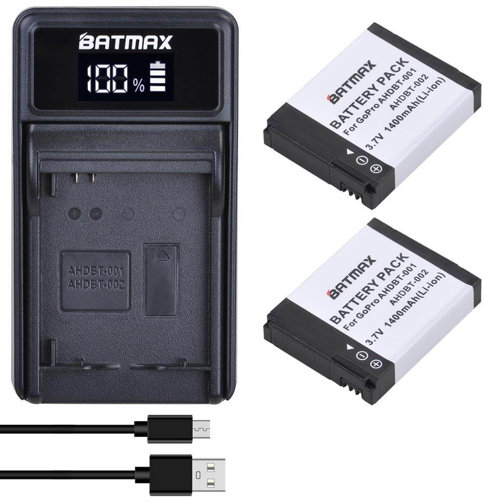 Аккумулятор Batmax 1400 мА · ч, светодиодный USB зарядное устройство для GoPro HD Hero1 Hero2, для спорта на мотоцикле, для серфинга на открытом воздухе, 960 1080P|Цифровые аккумуляторы|   | АлиЭкспресс