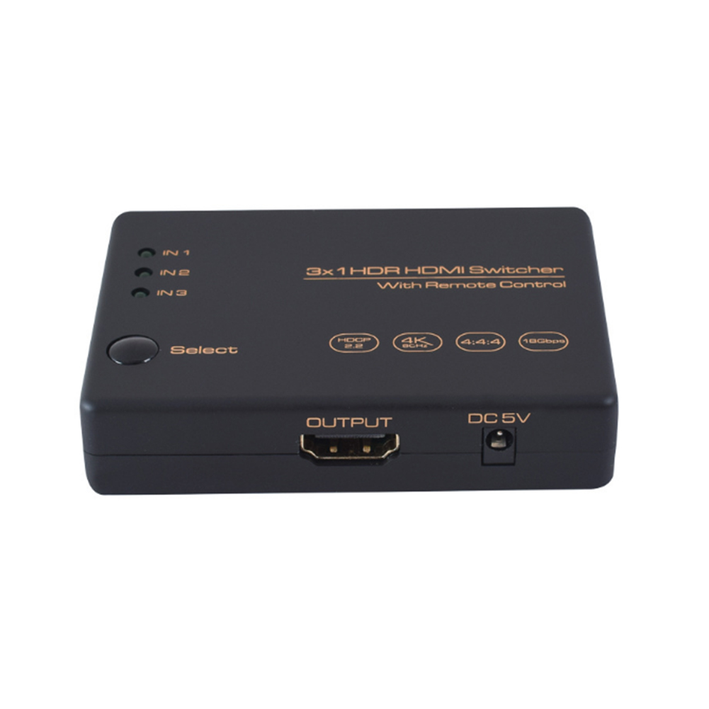 Multi Ways 4K 60Hz 18Gbps Computer HDTV HDPC2.2 With HDMI Cable IR Remote Control HDR Switcher Ultra HD Video 3 In 1 Out