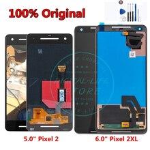 % 100% orijinal Google Pixel 2 XL için dokunmatik LCD ekran ekran Google Pixel için XL2 2XL LCD Digitizer meclisi yedek parçalar