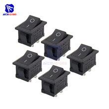 Diymore 5 pièces/lot KCD1-101 2Pin interrupteur marche/arrêt/KCD1 3Pin interrupteur marche/arrêt Snap 6A 250V 10A 125V SPST interrupteur