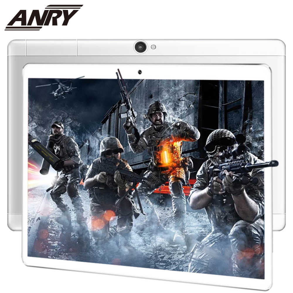 ANRY 10,1 Inch Tablet PC MTK8732 Octa Core Processor 4G Lte Telefoongesprek Phablet 64GB ROM 4 GB RAM Metalen Cover Zwart/Zilver/Goud