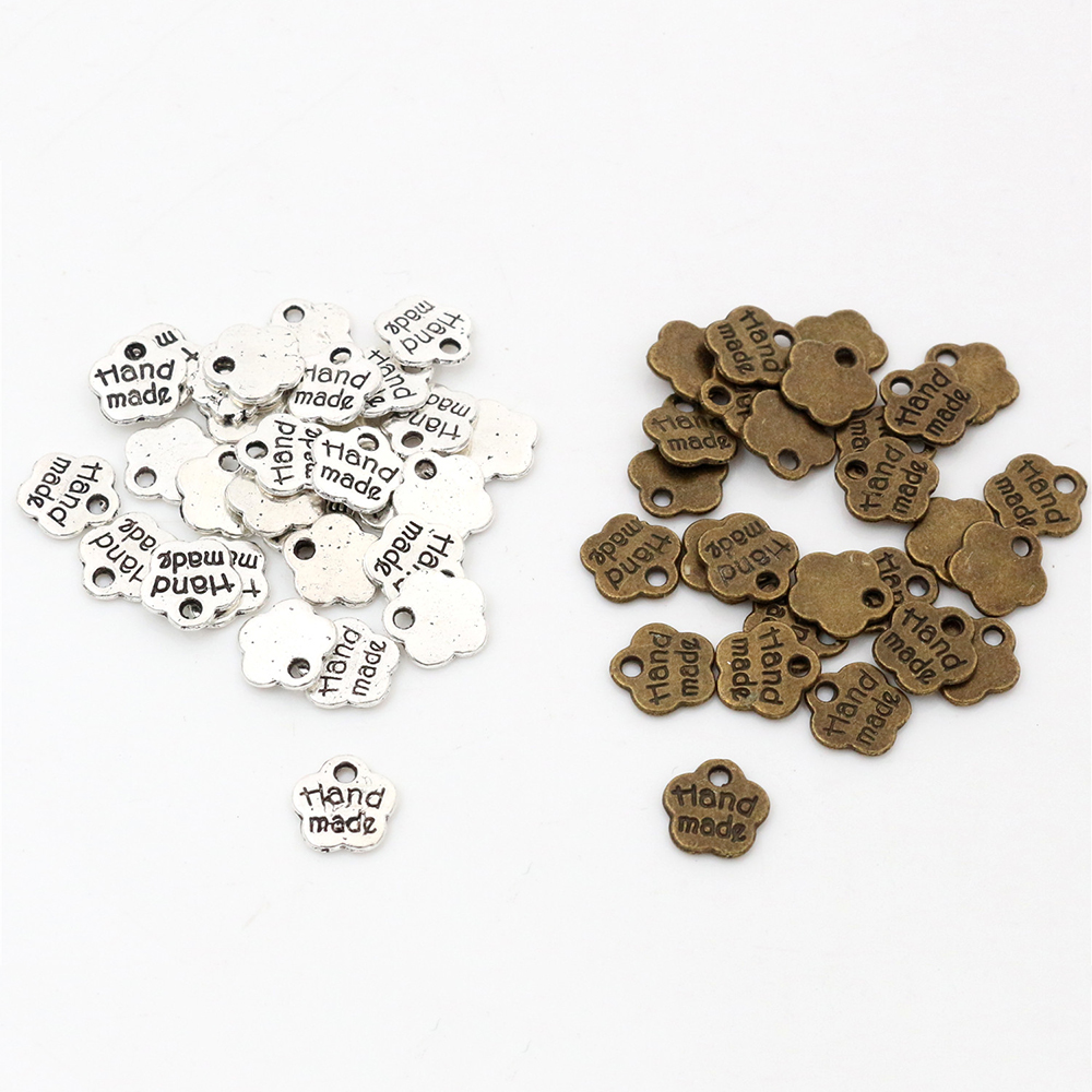8x8 мм 50 шт античное посеребренное бронзовое покрытие цветок Подвески ручной работы Подвеска: сделай сам для браслета ожерелье
