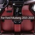 Кожаные автомобильные коврики в салон для Ford Mustang 2015 2016 2017 2018 2019 Пользовательские Авто накладки на ножках не оставят автомобильный коврик кр...