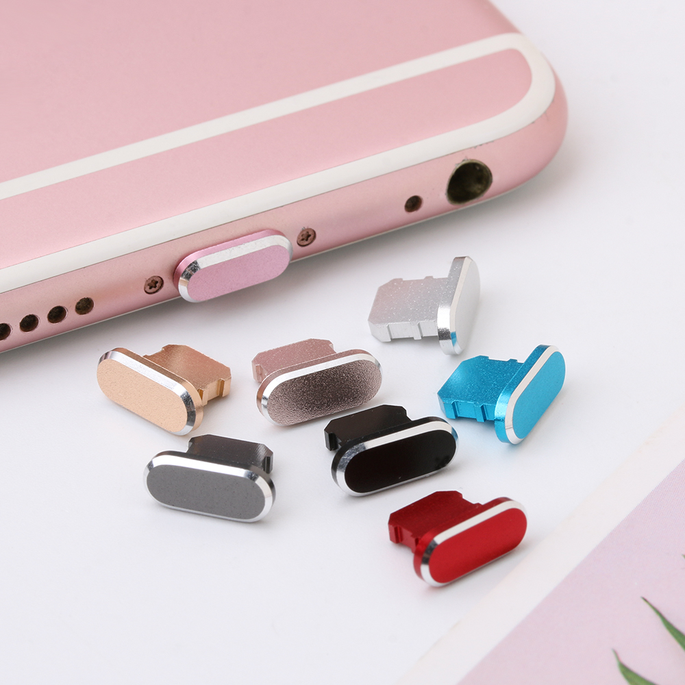 1PC Colorful Metal Anti Dust Charger Dock Plug Stopper Cap Cover for iPhone X XR Max 8 7 6S Plus Cell Phone Accessories