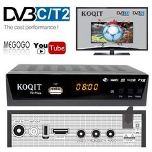 Ruso HD 1080P DVB-T2 caja de TV Digital prefijo DVBT2 sintonizador Dual DVB T2 DVB-C Cable gratis receptor de TV decodificador FTA Wifi IPTV Youtube(China)