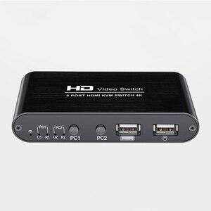 2 порта 4K USB HDMI KVM переключатель видео дисплей горячий ключ переключатель для ПК ноутбука DU55