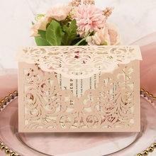 1x chá de panela convite cartão blush rosa preto azul ouro rosa corte a laser aniversário convidar cartões envelope quinceanera