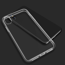 Phone Case For iPhone XS XR MAX Transparent Silicone Cover Clear Soft TPU Back Coque Funda Mobile