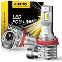 Lampadine fendinebbia AUXITO 2X H11 LED H8 H9 H16 JP LED CSP 6000K bianco/3000k giallo dorato DRL luce di marcia diurna per Auto lampada automatica