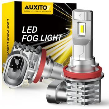 AUXITO 2X H11 LED Fog Light Bulbs H8 H9 H16 JP LED CSP 6000K White/3000k Golden Yellow DRL Car Daytime Running Light Auto Lamp