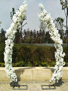 Arches-Shelf Wedding-Decorations Moon-Shaped Artificial-Flower-Set Blossom-Arch-Door