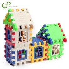 24 sztuk klocki Kid budowa domu bloki budowa rozwojowy zestaw zabawek 3D cegły zabawki budowlane cegły GYH