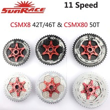 SunRace 11 Cassette Velocità del Volano CSMX8 CSMX80 CSMS8 CSRX8 Mountain Della Bici Della Bicicletta MTB 11 40T 11 42T 11 46T 11 50T Parti di Biciclette
