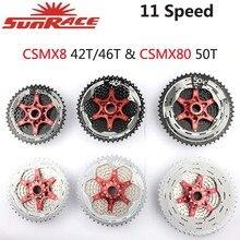 SunRace Cassette de 11 velocidades para bicicleta de montaña CSMX8, CSMX80, CSMS8, CSRX8, 11 40T, 11 42T, 11 46T, 11 50T