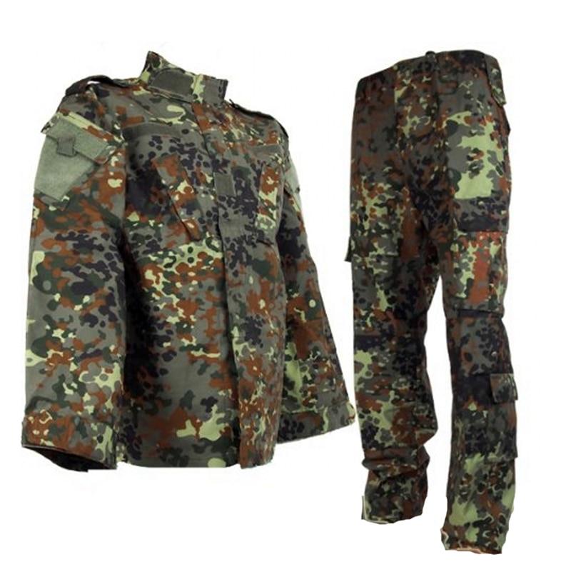 Страйкбольная Тактическая Военная Униформа BDU, армейская рубашка и штаны, комплект одежды для пейнтбола, охоты, немецкая камуфляжная одежда|Маскировочный костюм для охоты|   | АлиЭкспресс