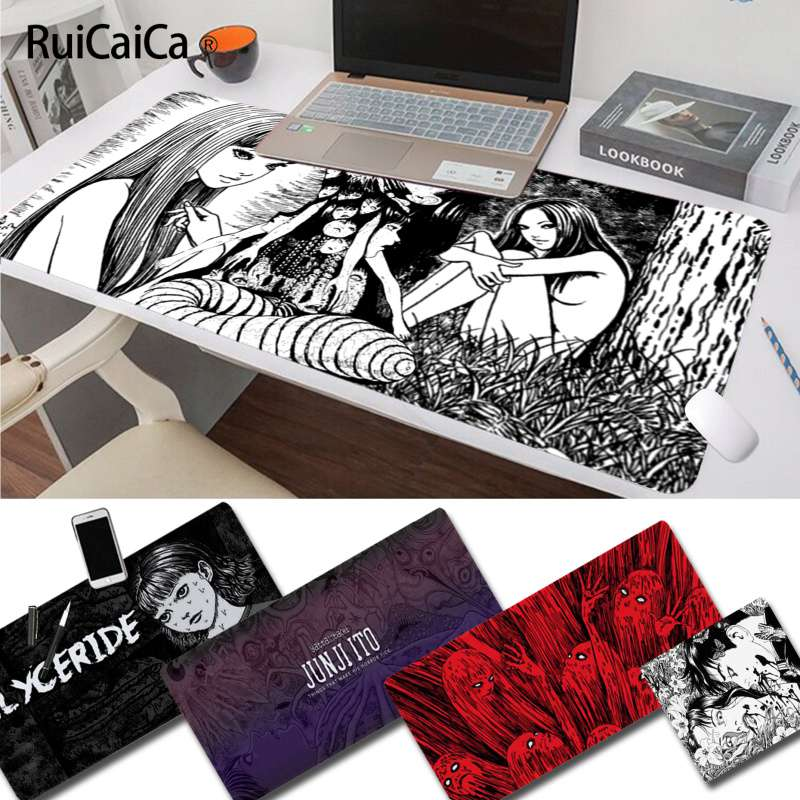 RuiCaiCa My Favorite Junji Ito Tees Horror Rubber Mouse Durable Desktop Mousepad Free Shipping Large Mouse Pad Keyboards Mat